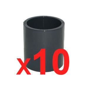 jardiboutique Lot de 5 Manchons /à Coller PVC Pression diam/ètre 50 mm
