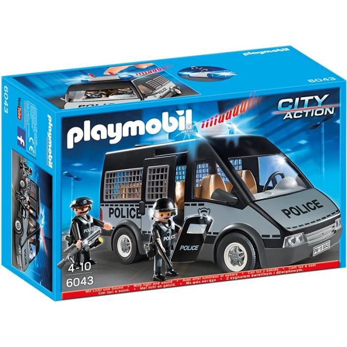 playmobil 6043 fourgon de police avec sir ne et gyrophare achat vente univers miniature. Black Bedroom Furniture Sets. Home Design Ideas