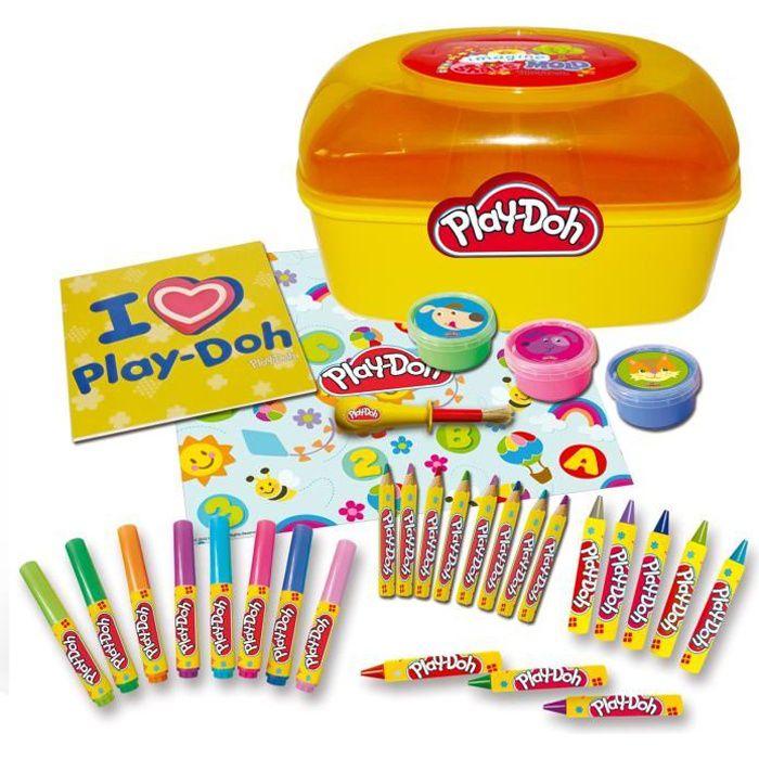 KIT PEINTURE PLAY DOH - Malette d'activité - Crayons et matérie