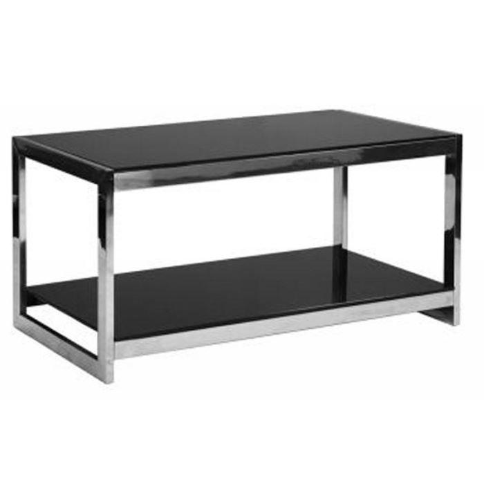 table basse verre tremp noir 2 niveaux 39 vera 39 achat vente table basse table basse verre. Black Bedroom Furniture Sets. Home Design Ideas