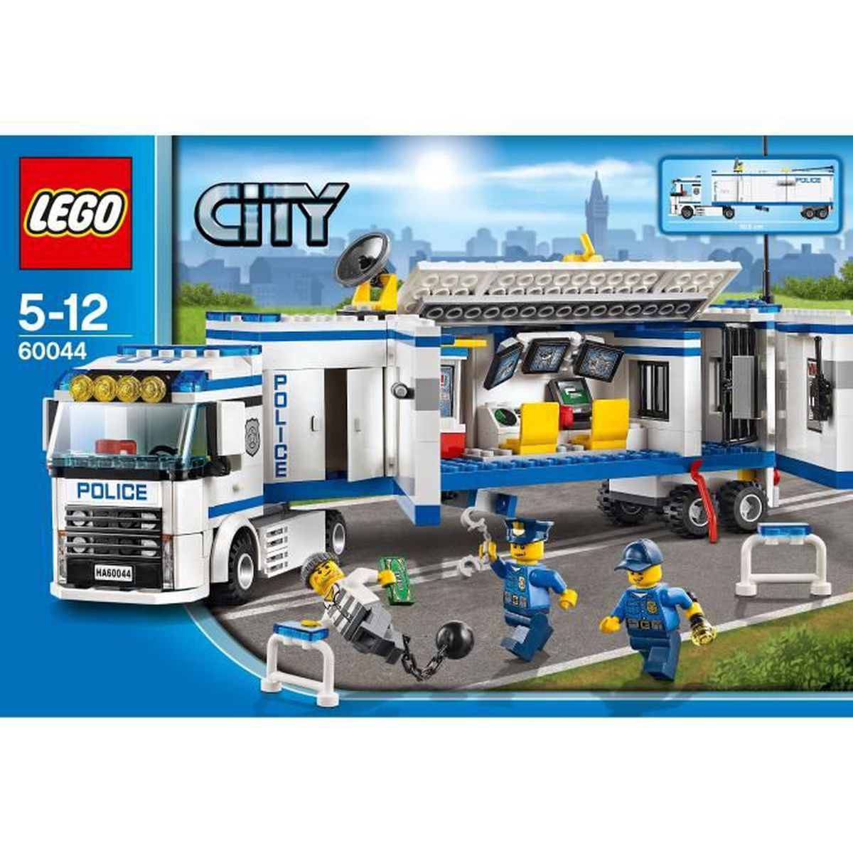 lego city 60044 l 39 unit de police mobile achat vente assemblage construction cdiscount. Black Bedroom Furniture Sets. Home Design Ideas