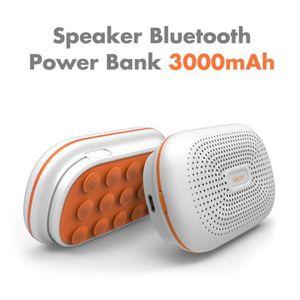 ENCEINTE NOMADE Enceinte Bluetooth et Powerbank 3000mAh White & Or