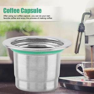 COMBINÉ EXPRESSO CAFETIÈRE Capsules réutilisables de capsule de café, capsule