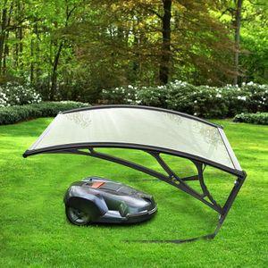 Couleur: Transparent Toit en Polycarbonate CLP Garage pour Tondeuse /à Gazon Abri pour Robot Tondeuse avec Protection Contre Soleil et Intemp/éries