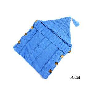 COUVERTURE - PLAID BÉBÉ Baby Wrap Swaddle Blanket Knit Sac de couchage Sac