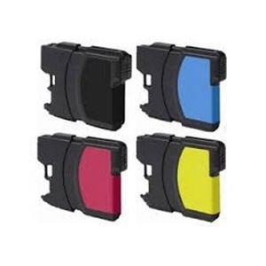 CARTOUCHE IMPRIMANTE Jeu de 4 cartouches encre equivalent Serie LC980 (