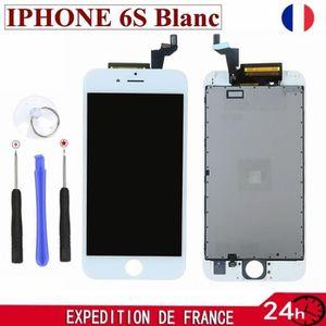 PIÈCE TÉLÉPHONE Écran LCD + vitre tactile pour iPhone 6S Blanc sur