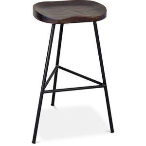 TABOURET DE BAR Tabouret de bar Industriel 73 cm - Istas Noir 49