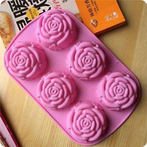 MOULE  FEIDA1213 Moule de cuisson 6 gâteau en silicone ro
