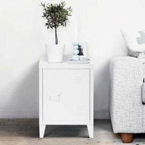 CHEVET FurnitureR Chevet Meuble de Rangement - 2 Etagères