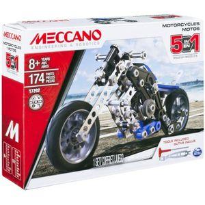 ASSEMBLAGE CONSTRUCTION MECCANO Coffret 5 modèles de moto jeu de construct