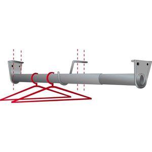 BARRE DE PENDERIE Kit penderie télescopique Mottez L98 à 180cm + 2 c
