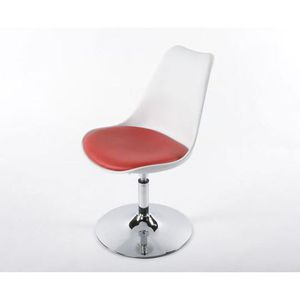 CHAISE Chaise LUNA Blanche Rouge