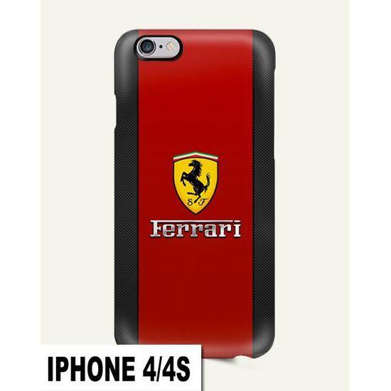 coque iphone 4 4s ferrari cheval voiture rouge