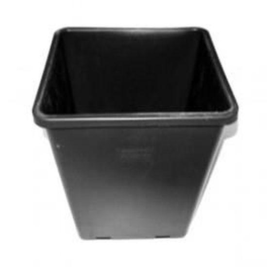 18x18x23cm 5,5L Pot carré blanc de culture pour plantes