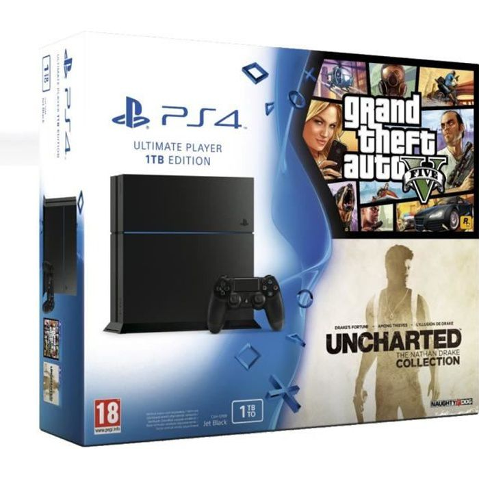 ps4 1 to gta v uncharted the nathan drake collection achat vente console ps4 nouveaut. Black Bedroom Furniture Sets. Home Design Ideas