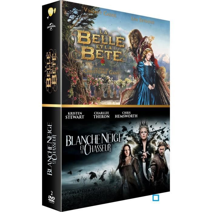 coffret dvd belle et la b te et blanche neige 2 dvd en. Black Bedroom Furniture Sets. Home Design Ideas