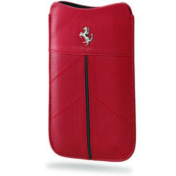 ETUI FERRARI CUIR ROUGE MEDIUM