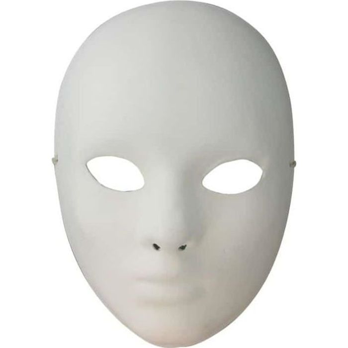 Masque de Venise Visage - Artémio Blanc