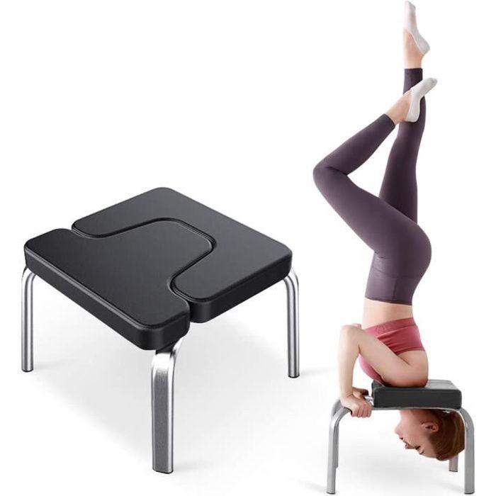 Chaise d'inversion Banc d'inversion de Yoga pour la Séance d'entraînement, de Gymnastique, Appui de Tabouret avec Coussins en PVC