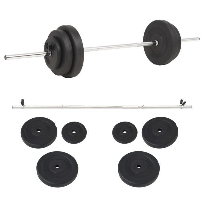 LIZ® Ensemble d'haltères 30 kg 2,5 x 120 cm