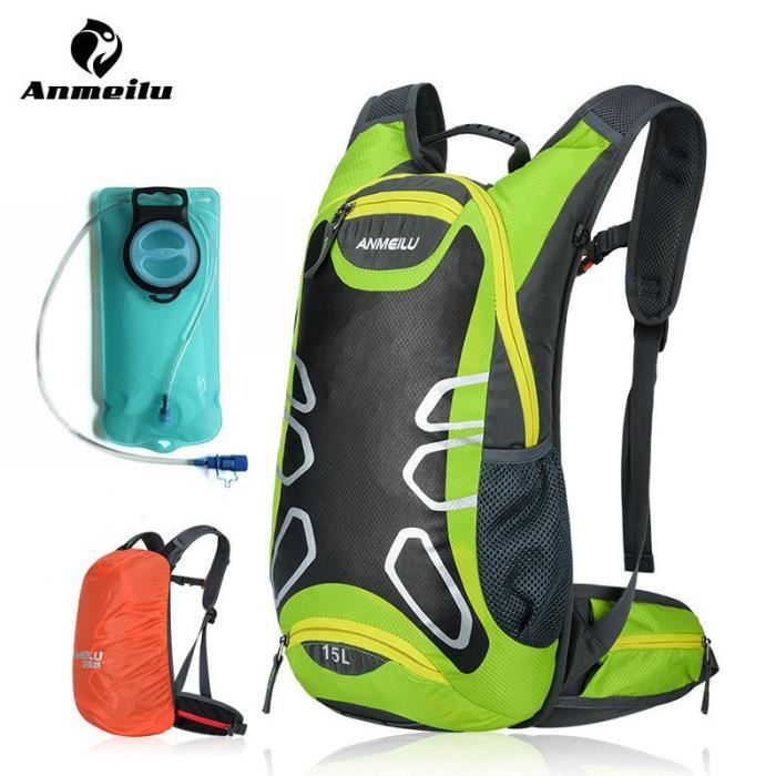 15L Sports Water Bags Hydratation Bladder Sac à dos de vélo Outdoor Escalade Camping Randonnée Bicyclette Bike Bag Camelback Avec 2L