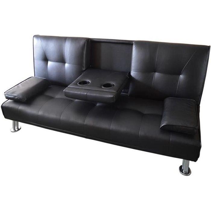 Canapé convertible clic-clac CANBAR - Noir