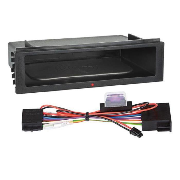 Vide poche 1DIN avec Chargeur Induction - Alimentation ISO autoradio 12V - avec led