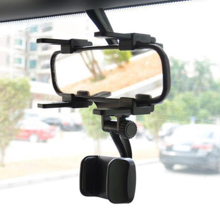 Support réglable de Support de rétroviseur de voiture Support pour téléphone GPS Support universel de navigation Support