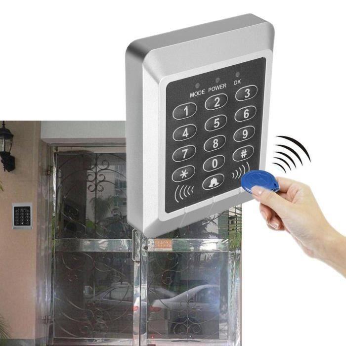 Digicode RFID Proximité Système Contrôle d'Accès Porte Serrure d'Entrée + 10 Clé Bo14862