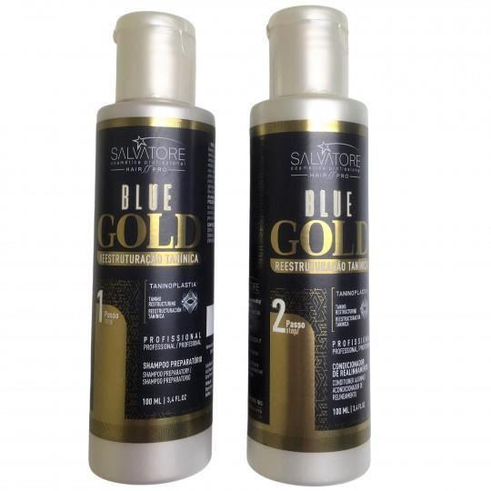 Kit Lissage Au Tanin Blue Gold Salvatore 2 X 100 Ml
