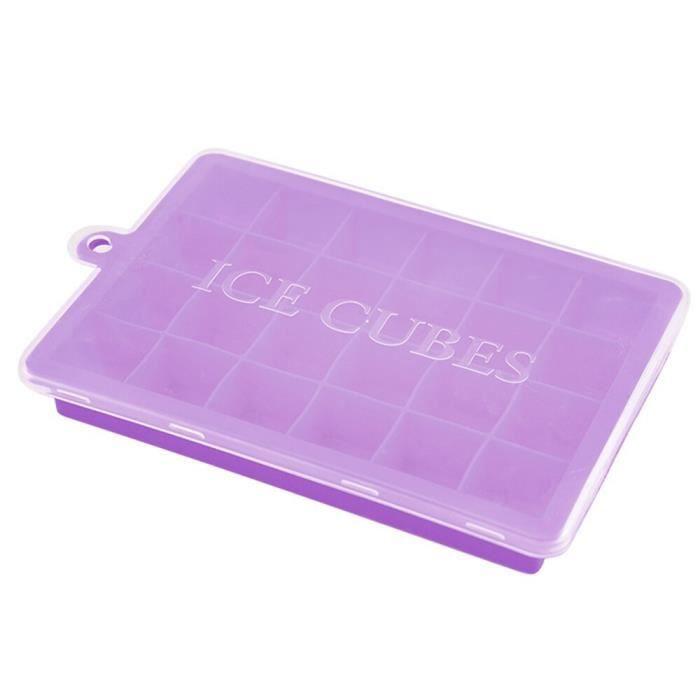 24 grilles Silicone glaçon avec couvercle bac à glace écologique petits Fruits glace popsicle moules fabricant livraison MC4442