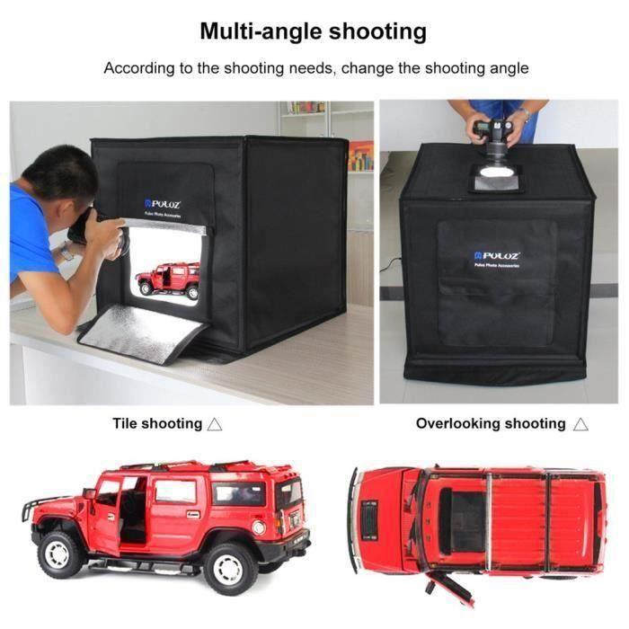 PULUZ 60*60cm boîte à lumière Photo Soft box Mini photo studio photograghy Softbox Led Photo Éclairage Studio Tir tente Boîte