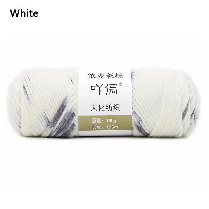 100g barre de fil de coton de lait couture main bricolage écharpe ligne ménage chaud FWT90902003WH_Leshaishu