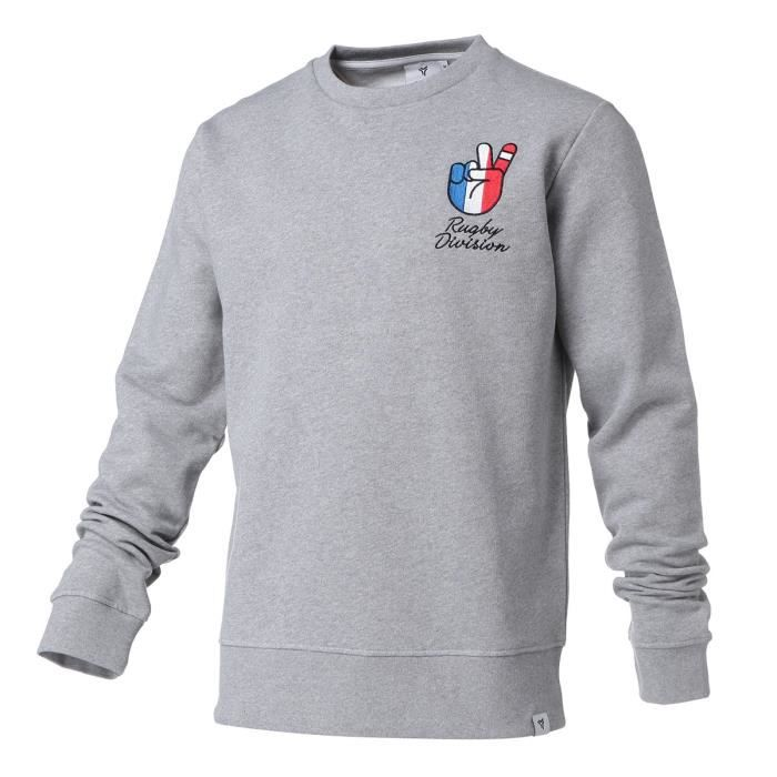 RUGBY DIVISION Sweater Toujours - Homme - Gris Chiné