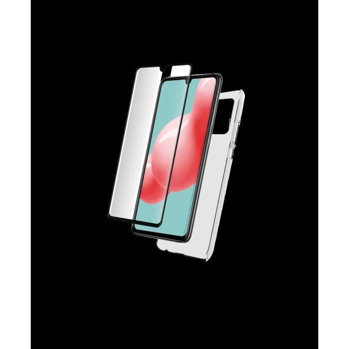 Pack - coque silitrans + verre trempé 2,5D Galaxy A42 5G
