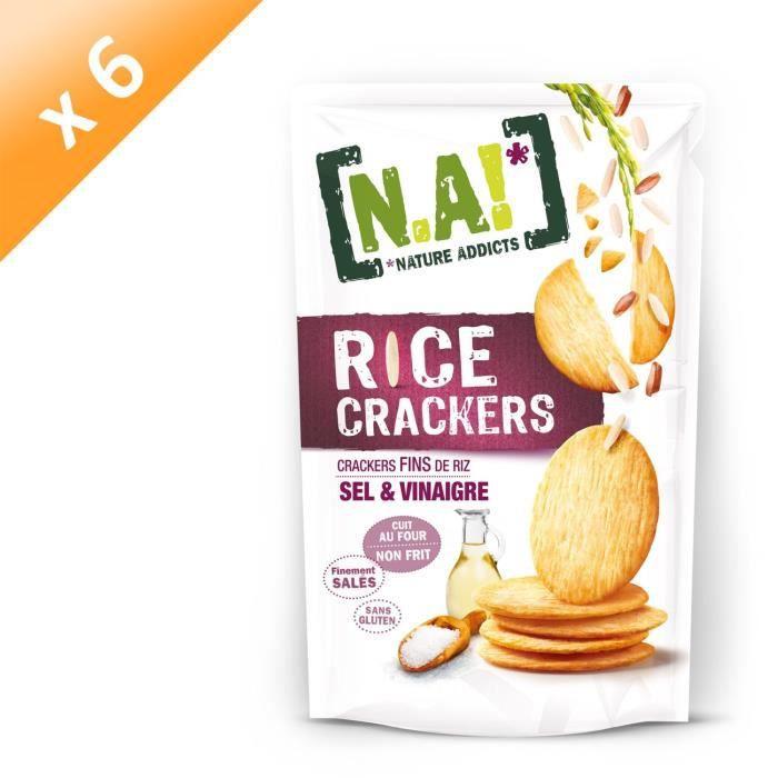 [LOT DE 6] Crackers de riz sel et vinaigre 70g N.A!