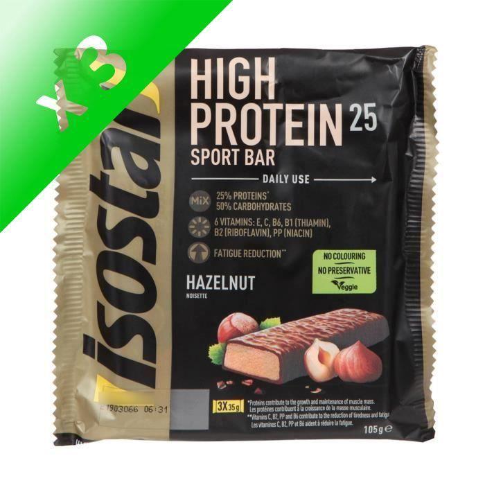 ISOSTAR Barres de High Protein 25% Nuts - 3x 35 g (Lot de 3)