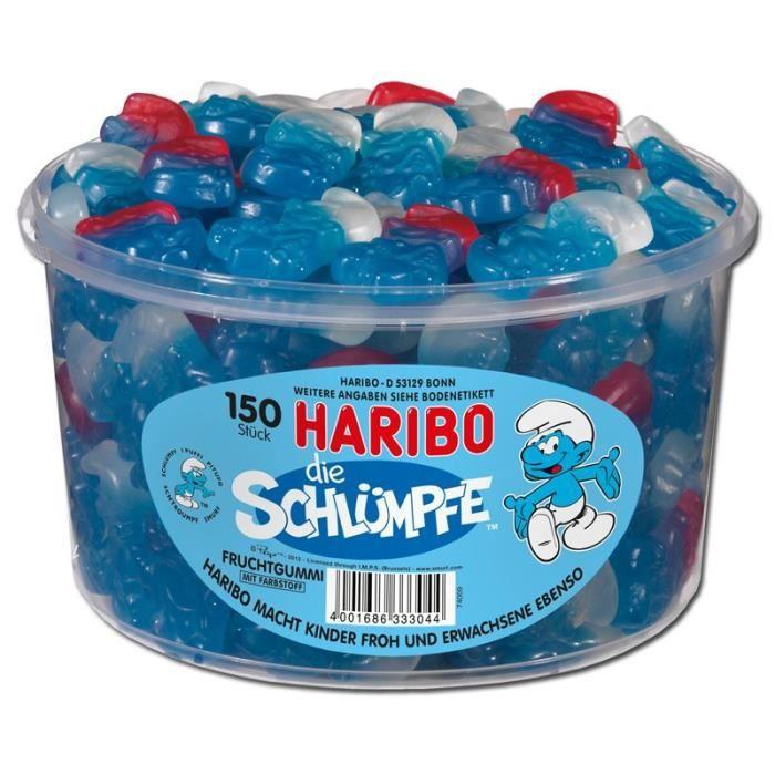 Haribo Schtroumpfs, gommes aux fruits, 150 pièces