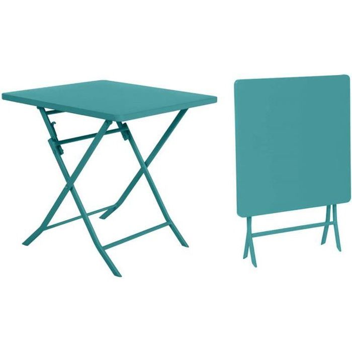 Table de jardin Hespéride carrée Greensboro 70 x 70 cm Emeraude