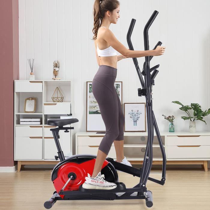 KirinSport Vélo elliptique multifonctionnel à commande magnétique 8 vitesses max 110kg