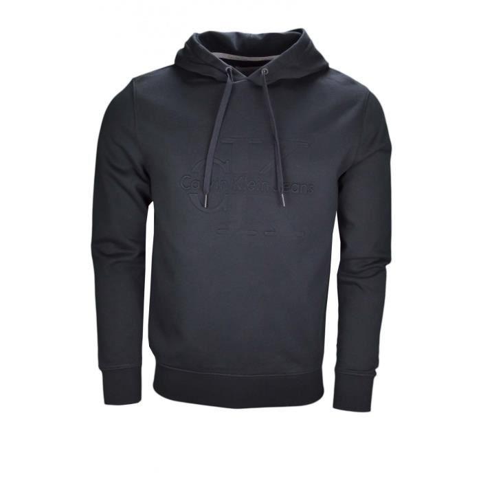 Sweat à capuche Calvin Klein noir pour homme - Taille: XL - Couleur: Noir