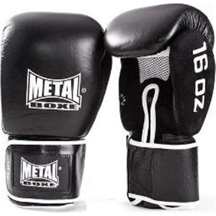 Gants de sparring cuir Metal Boxe - 16 oz