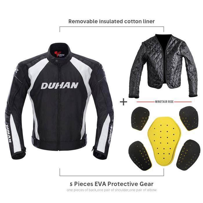 DUHAN Veste de moto Veste de motocross Équipement de protection Armure Hommes