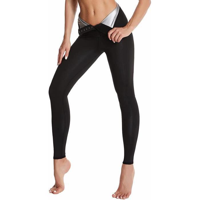 Pantalon de Sudation,Pantalon de Yoga,Legging Anti Cellulite Fort Compression Thermique,Taille Ajustable,Legging Minceur,Transpirati