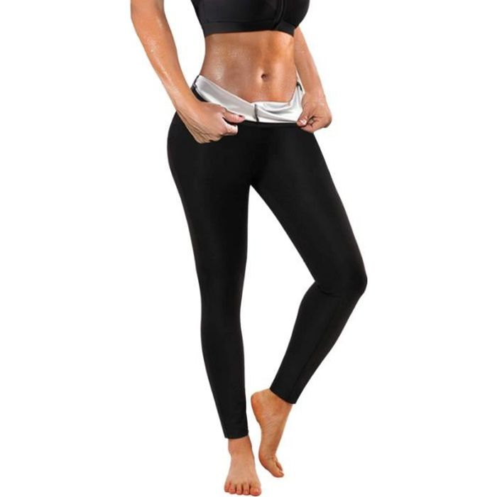 Pantalon de Sudation Sport Femme Sauna Legging Minceur Amincissant Anti Cellulite Transpiration Pants Taille Haute Pantalons