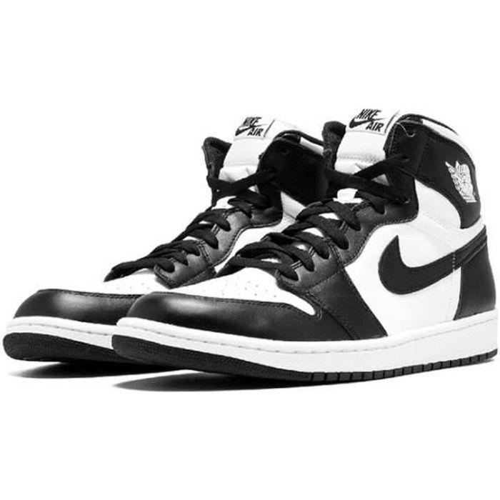 Air Jordan 1 Retro Black White (2014) GS Chaussures de Sport AJ 1 Pas Cher pour Homme Femme Noir