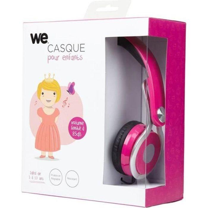 WE Casque audio pour enfant - Rose