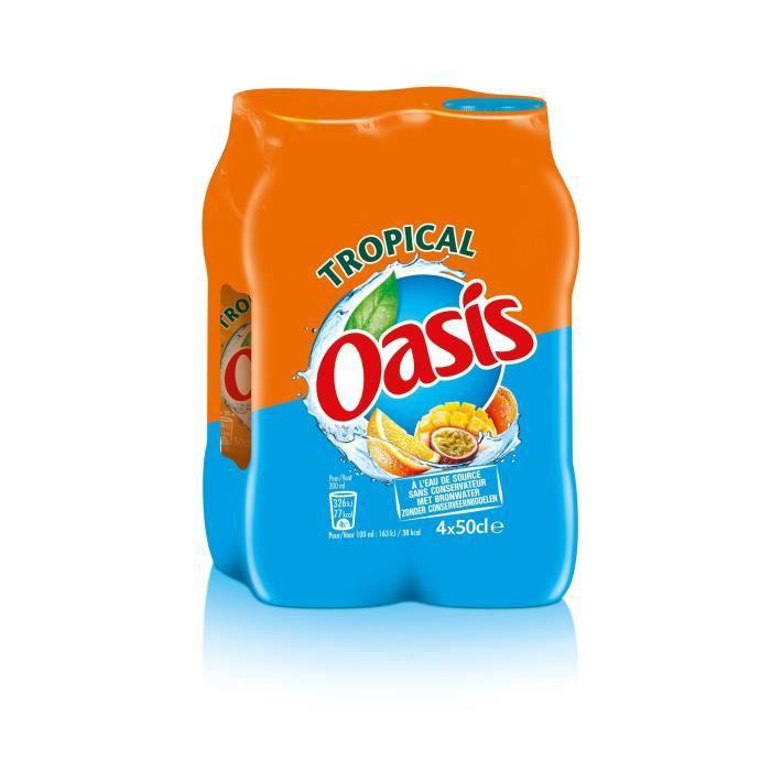 OASIS Lot de 4 Boissons Tropical 4x50cl