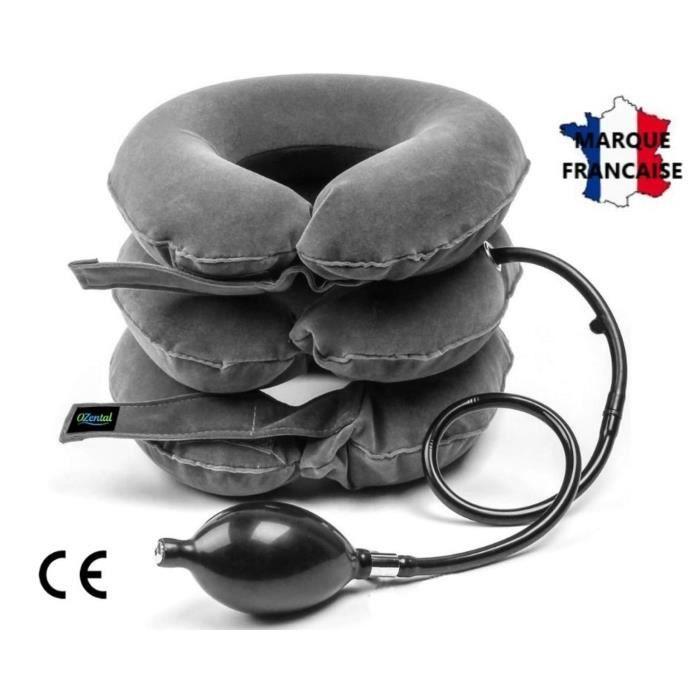 Ozental Coussin De Traction Cervicale Gonflable, Minerve Cou Air,Collier De Traction Cervical Femme/Homme Pour Soulager La Nuque